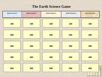 Earth Science Jeopardy 2
