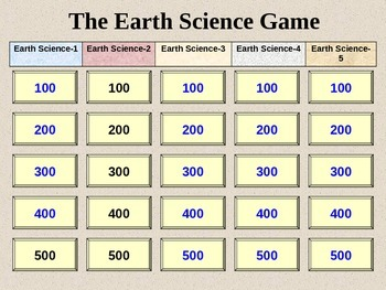 Earth Science Jeopardy 3