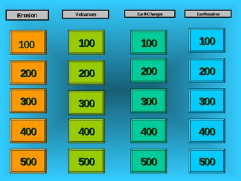 Earth Science Jeopardy Game
