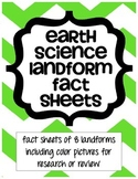 Earth Science Landform Fact Sheets