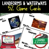 Earth Science Landforms & Topography GAME CARDS, TEST PREP