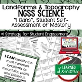 Earth Science Landforms & Topography I Cans Student Self-Assessment of Mastery