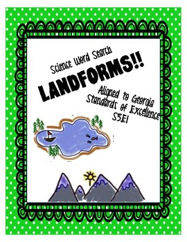 Earth Science Landforms Word Search