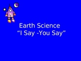 Earth Science: Making vocabulary Exciting