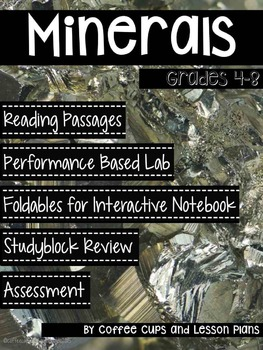 Earth Science Minerals: Reading Passages, Interactive Notebook, & Lab