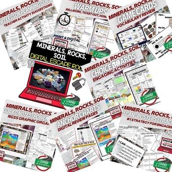 Earth Science Minerals, Rocks, & Soil BUNDLE (Earth Science BUNDLE)