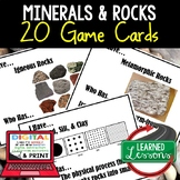 Minerals Rocks & Soil Game Cards, Earth Science Test Prep, NGSS