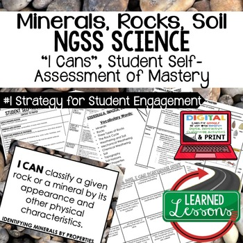 Earth Science Minerals, Rocks, & Soil I Cans Student Self-Assement of Mastery