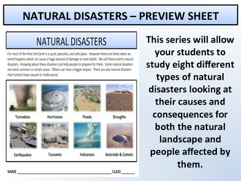 Earth Science - Natural Disasters