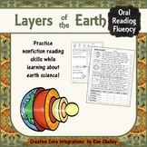 Earth Science Nonfiction Fluency - LAYERS of EARTH