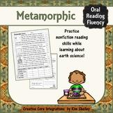 Earth Science Nonfiction Fluency - METAMORPHIC