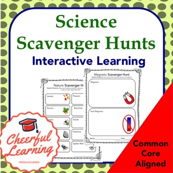 Science Scavenger Hunts Interactive Learning Common Core Aligned