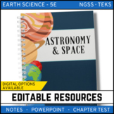 Astronomy and Space Notes, PowerPoint & Test ~ EDITABLE! - Distance Learning