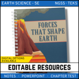 Forces that Shape Earth Notes, PowerPoint & Test Google Distance Learning