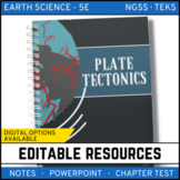 Plate Tectonics Notes, PowerPoint & Chapter Test ~ EDITABLE! - Distance Learning