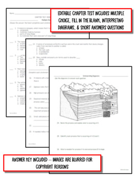 Rocks & Minerals: Earth Science Notes, PowerPoint & Chapter Test ~ EDITABLE!
