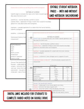 Intro to Earth Science: Earth Science Notes, PowerPoint & Test ~ EDITABLE