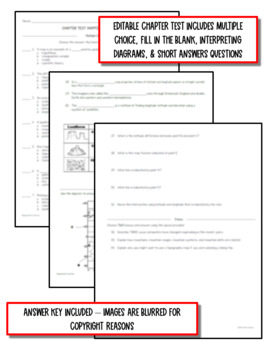 Mapping Earth's Surface: Earth Science Notes, PowerPoint & Test ~ EDITABLE!