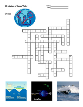 Earth Science - Ocean - Circulation of Ocean Water -  Crossword Puzzle