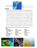 Earth Science - Ocean - The Bottom of the Ocean - Wordsear