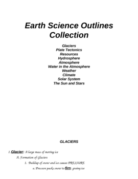 Earth Science Outline Notes