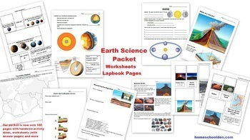 Earth Science Packet: Earth Layers, Plate Tectonics, Earthquakes, Volcanoes