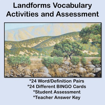 Landforms Vocabulary Activities and Assessment