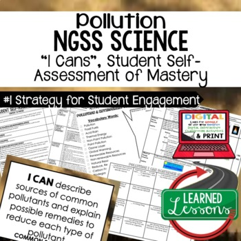 Earth Science Pollution Student Self-Assessment of Mastery I Cans