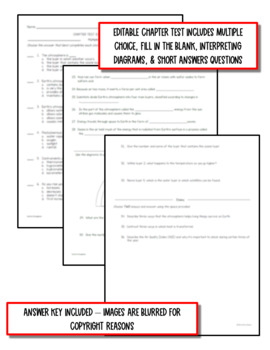 Earth's Atmosphere: Earth Science PowerPoint, Notes & Test ~ EDITABLE!