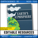 Earth's Atmosphere PowerPoint, Notes & Test Google Classroom Distance Learning