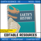 Earth's History: Earth Science PowerPoint, Notes & Test ~ EDITABLE!
