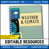 Weather & Climate: Earth Science PowerPoint, Notes & Test