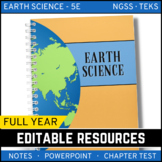 Earth Science PowerPoints, Notes, Chapter Tests Bundle  - Distance Learning