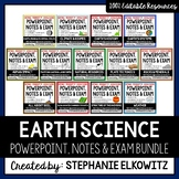 Earth Science PowerPoint, Notes & Exam Bundle