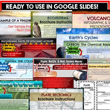Earth Science Projects Google Classroom Bundle