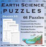 Earth Science Puzzles - 66 UNIQUE Puzzle Collection | Grades 3-5