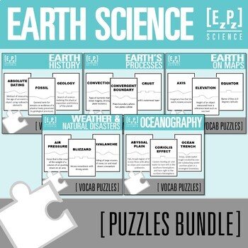 Earth Science Puzzles Bundle