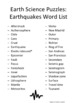 Earth Science Puzzles: Earthquakes