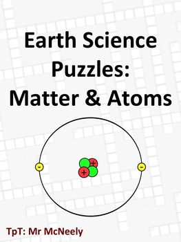 Earth Science Puzzles: Matter & Atoms