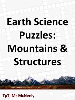 Earth Science Puzzles: Mountains & Structures