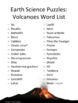 Earth Science Puzzles: Volcanoes