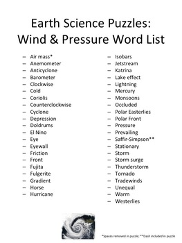 Earth Science Puzzles Wind Pressure