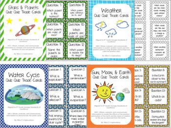 BUNDLE! All Earth Science Quiz Quiz Trade Cards