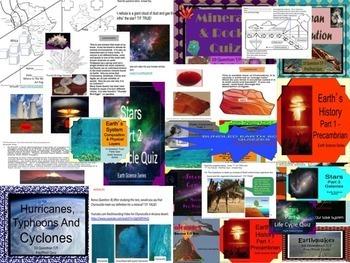 Special Education Earth Science 25 Quizzes Bundle