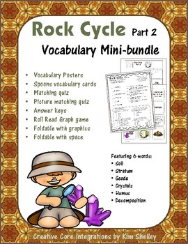 Earth Science ROCK CYCLE 2 Vocabulary Mini-bundle