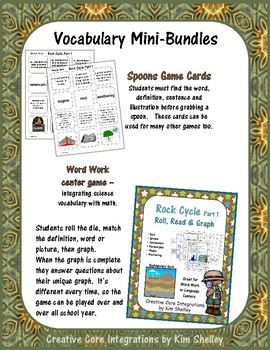 Earth Science ROCK CYCLE 2 Vocabulary Set