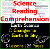 Earth Science Comprehension | Changes in the Earth and Sky | Gr3-4