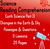 Earth Science Reading Comprehension Passages | Changes in