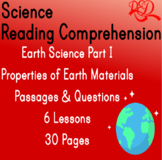 Earth Science Reading Passages | Properties of Earth Mater