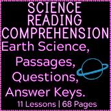 Earth Science Reading Comprehension Passages & Questions | Bundle | Gr5-6